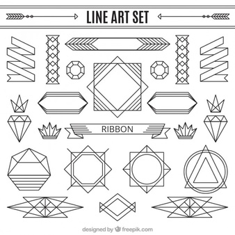 Free line art patterns picture freeuse download Art Deco Vectors, Photos and PSD files | Free Download picture freeuse download