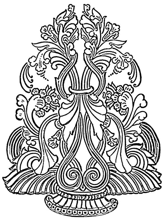 Free line art patterns clip art freeuse library Free glass painting patterns and tutorials. | Print | Pinterest ... clip art freeuse library