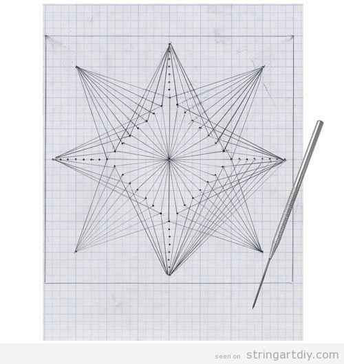 Free line art patterns clip freeuse geometric string art free pattern paper kids Geometric String Art ... clip freeuse