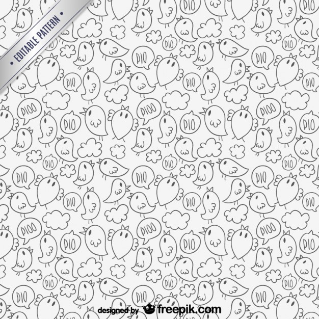 Free line art patterns png free library Lineart birds pattern Vector | Free Download png free library
