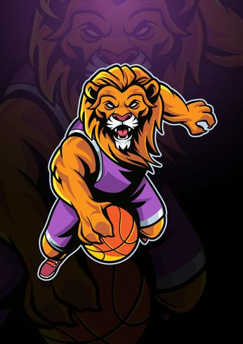 Free lion mascot clipart image free Lion Basketball Mascot Logo - Download Free Vectors, Clipart ... image free