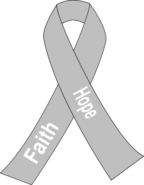 Gray cancer ribbon clipart banner black and white download Lung Cancer Ribbon Clip Art at Clker.com - vector clip art online ... banner black and white download
