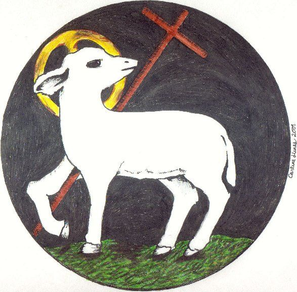 Free lutheran clipart lamb of god feeds his sheep banner royalty free download This is one of my most favorite Christ images - the slain Lamb who ... banner royalty free download