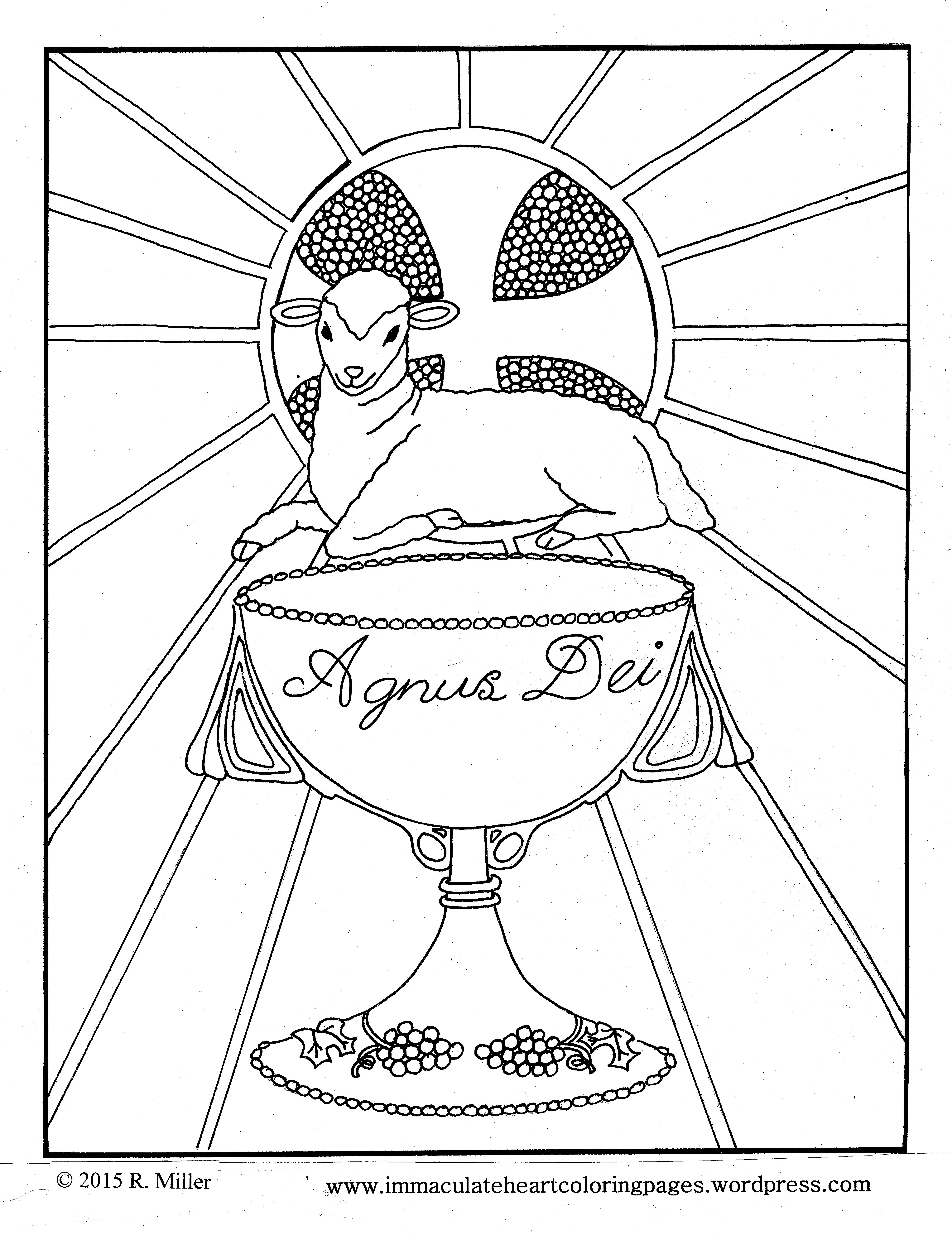 Free lutheran clipart lamb of god feeds his sheep banner black and white stock Agnus Dei / Lamb of God/ Eucharist coloring page | Religious crafts ... banner black and white stock