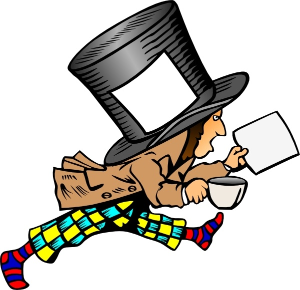 Clip art vector in. Free mad hatter clipart