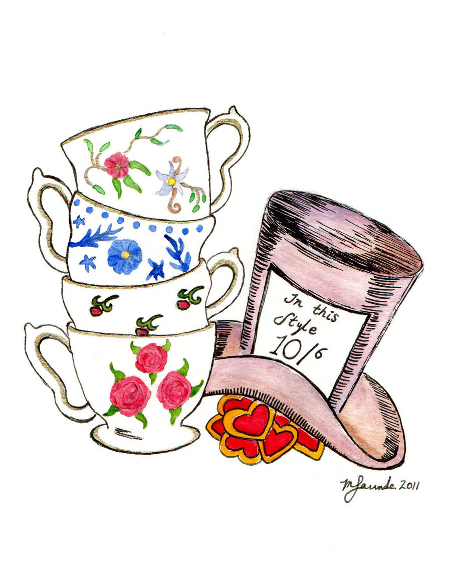 Free mad hatter clipart. Tea party clip art