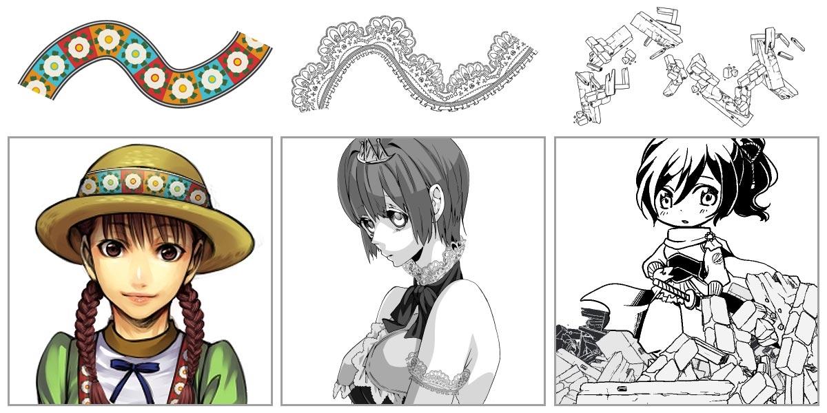 Free manga clip art image free download CLIP STUDIO PAINT for Manga   CLIP STUDIO.NET image free download