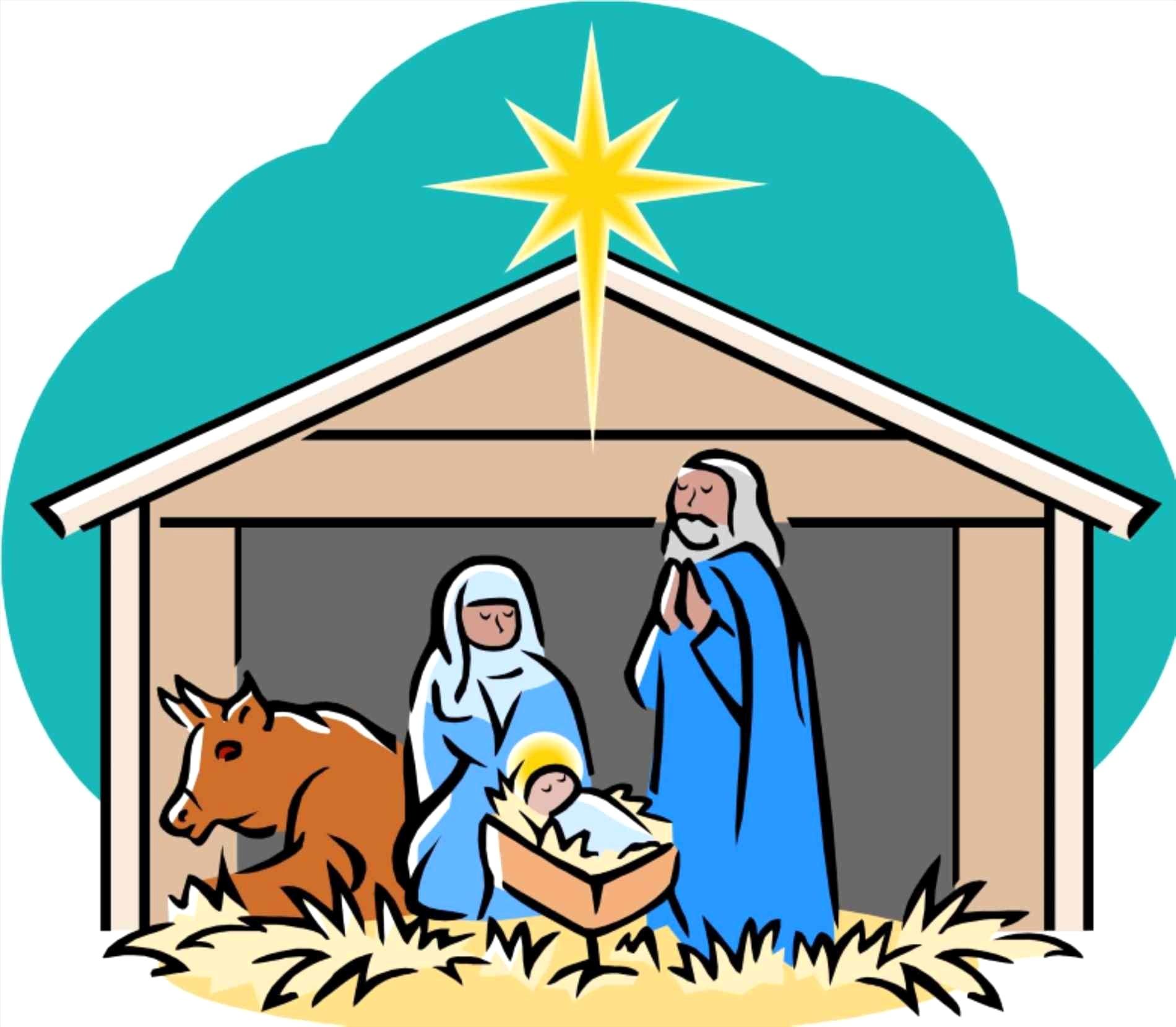 Free manger clipart images. Scene station