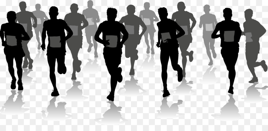 Free marathon clipart banner library stock Fitness Cartoon png download - 3947*1900 - Free Transparent Marathon ... banner library stock