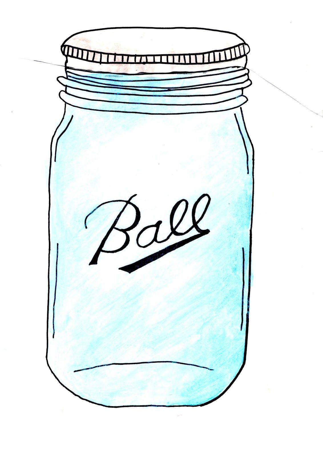 Free mason jar clipart image black and white download free mason jar clip art | Freebies | Mason jar clip art, Mason jar ... image black and white download