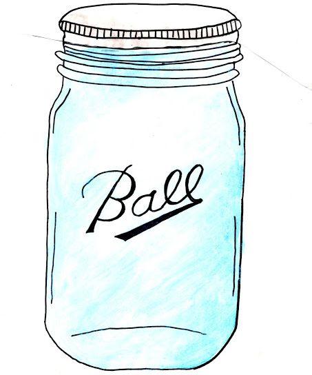 clip art clipartlook. Free mason jar wedding clipart