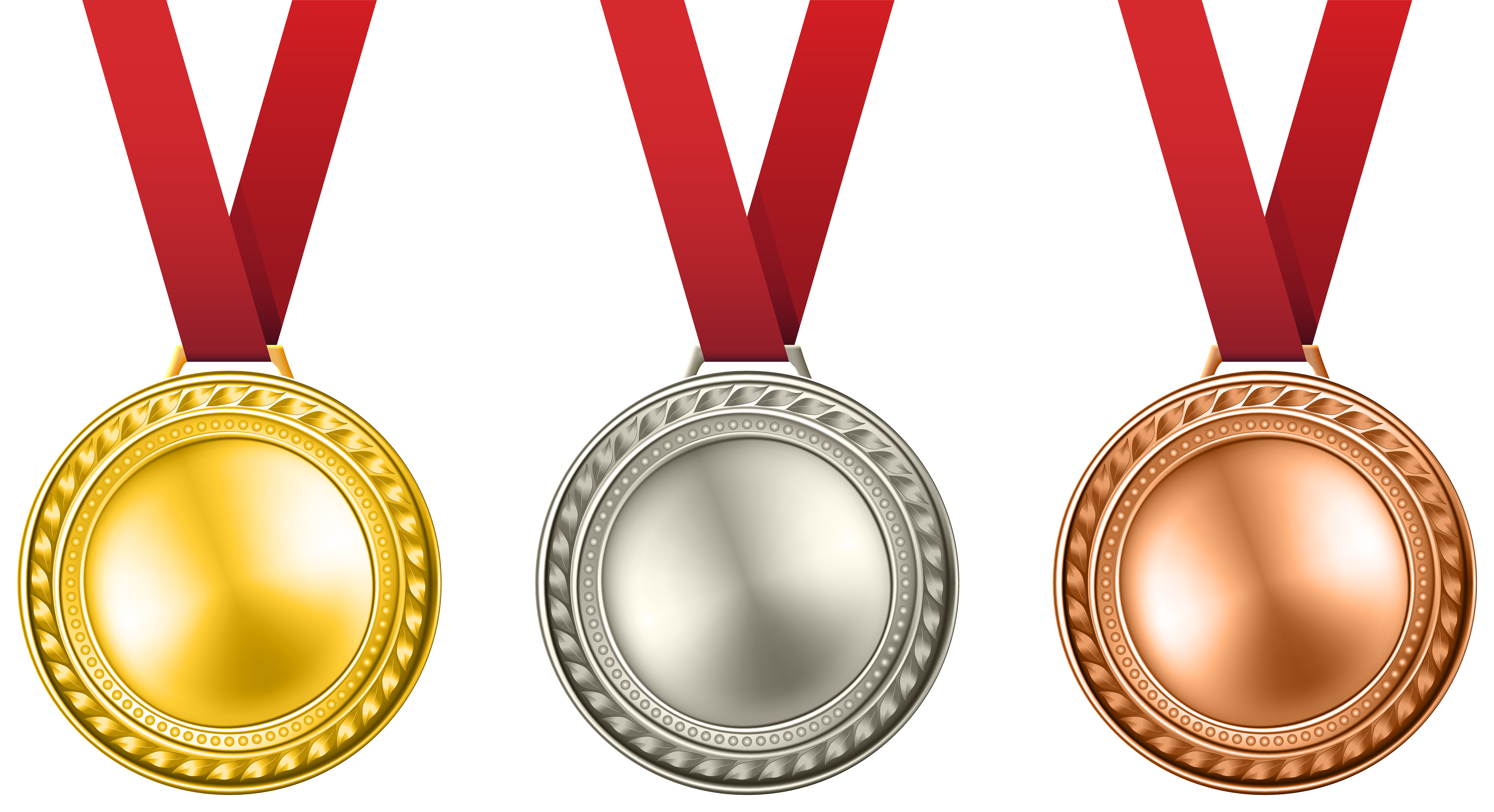 Free medal clipart clip art transparent Medals Set Transparent PNG Clip Art Image | Gallery Yopriceville ... clip art transparent