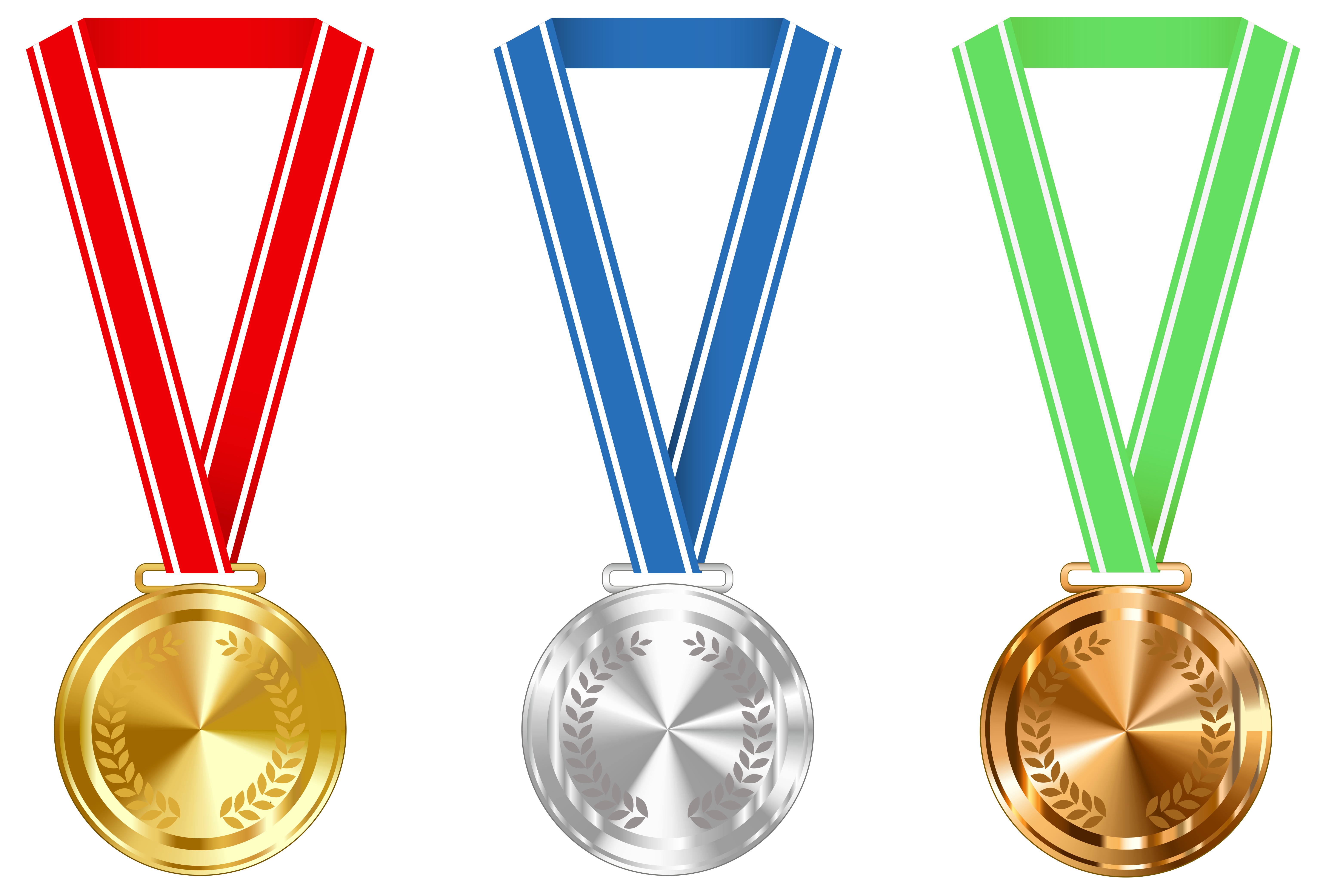 Free medal clipart picture royalty free download Gold Silver and Bronze Medals PNG Clipart Image | Gallery ... picture royalty free download