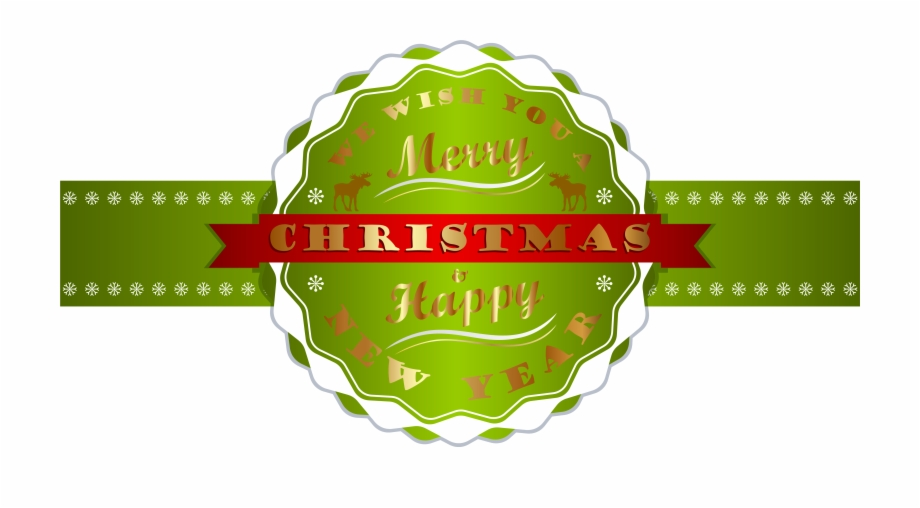 Free merry christmas and happy new year clipart image transparent download And Happy New Year Label Png Image - Merry Christmas Happy New Year ... image transparent download