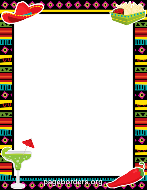 Mexico clipart borders clipart library download Pin by Muse Printables on Page Borders and Border Clip Art | Fiesta ... clipart library download