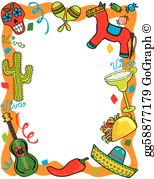 Free clipart images fiesta transparent stock Fiesta Clip Art - Royalty Free - GoGraph transparent stock