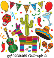 Free mexican themed clipart vector library library Fiesta Clip Art - Royalty Free - GoGraph vector library library
