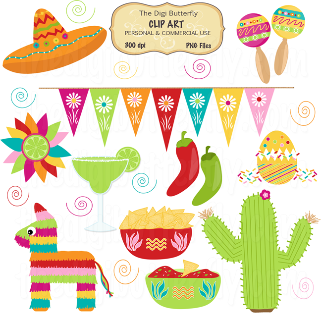 Free mexican themed clipart vector Free Fiesta Cliparts, Download Free Clip Art, Free Clip Art on ... vector