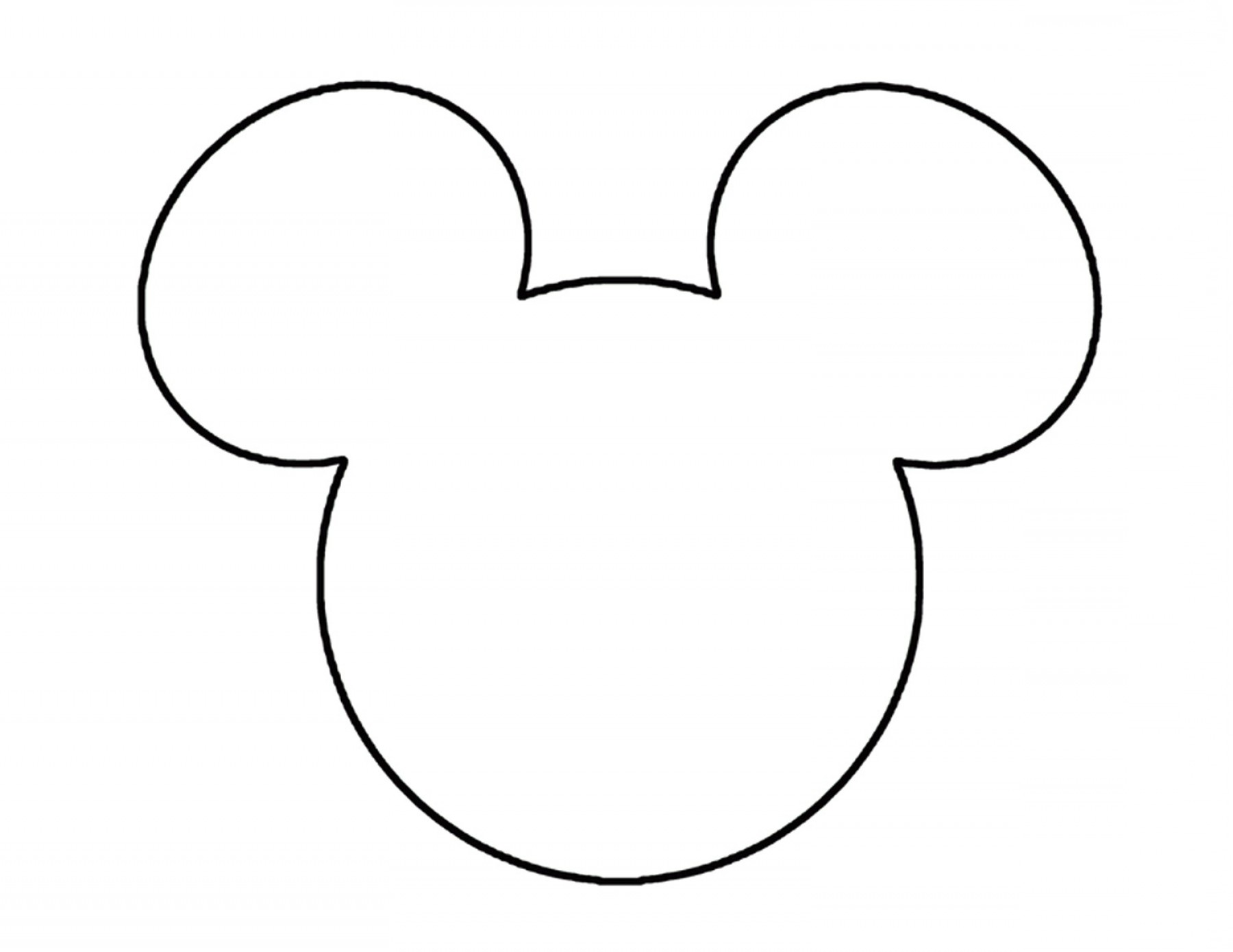 Free mickey mouse black and white outline clipart graphic free library Mickey Mouse Ears Head Outline Disneyland Pinterest Clipart | SOIDERGI graphic free library