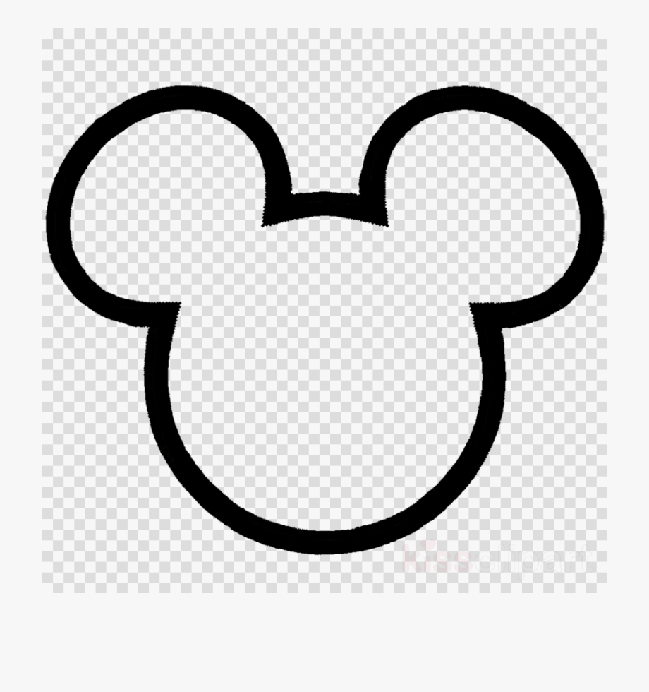 Free mickey mouse black and white outline clipart image freeuse stock Mickey Mouse Clipart Outline - Transparent Background Youtube Play ... image freeuse stock