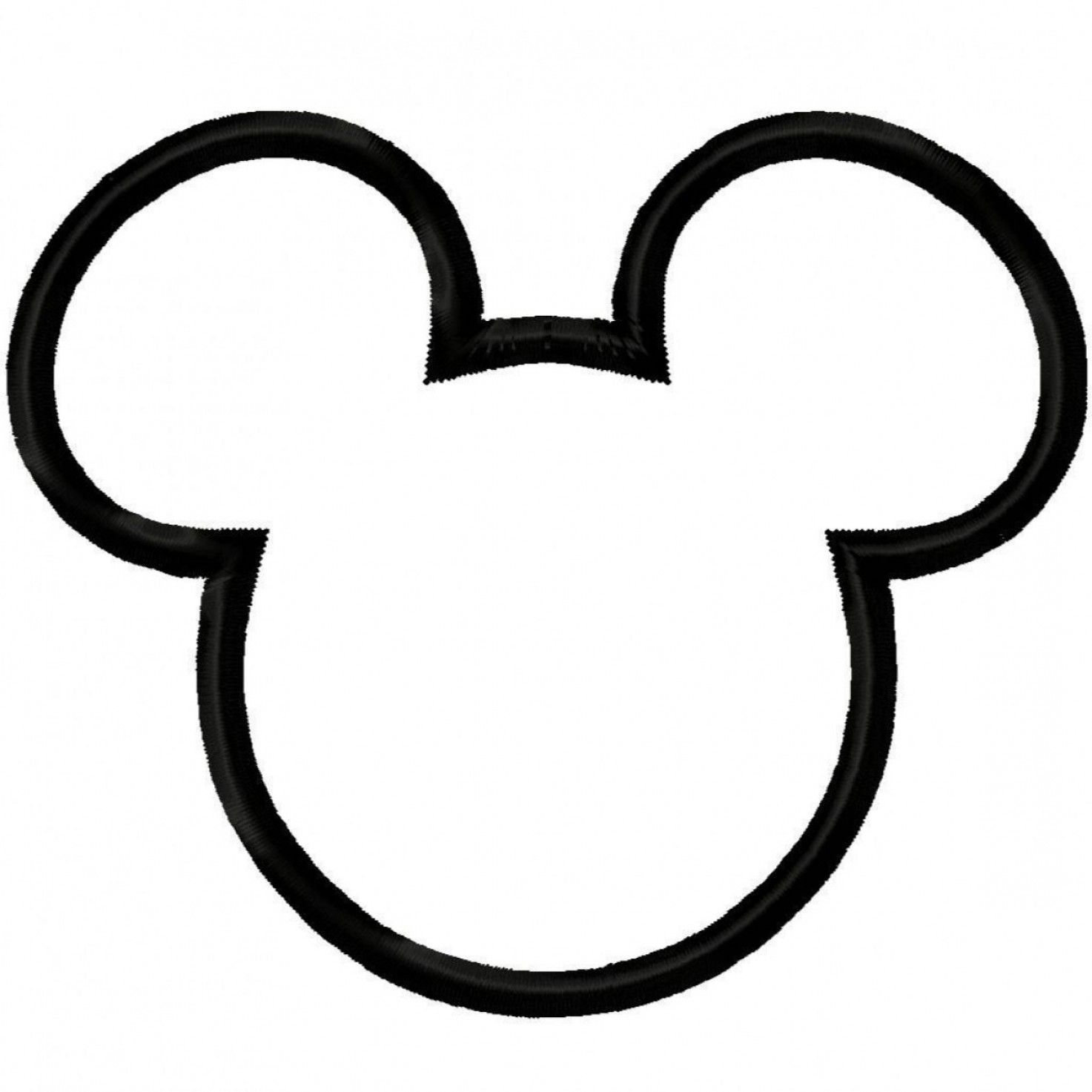 Free mickey mouse black and white outline clipart banner freeuse download Mickey Vector: Mickey Mouse Ears Clipart Black And White | Disney ... banner freeuse download
