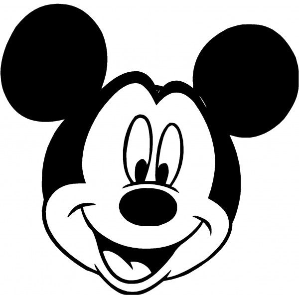Free mickey mouse black and white outline clipart image free Mickey Mouse Clip Art Silhouette Clipart Panda Free Clipart Images ... image free