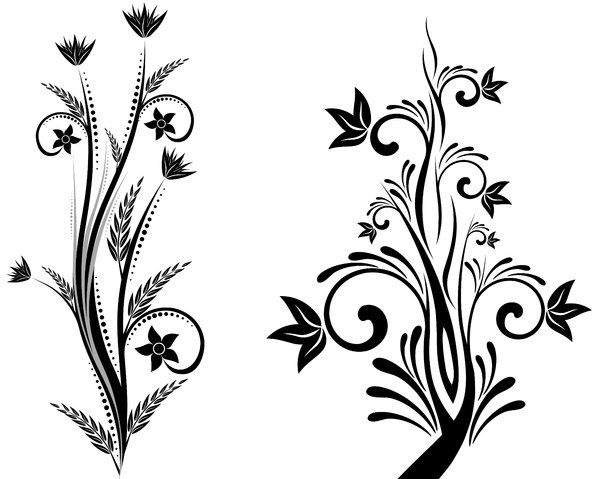 Free miniature narrow tree flowers clipart black and white freeuse download Simple Flower Designs Black And White | Free Download Clip Art ... freeuse download