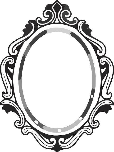 Mirror image clipart jpg black and white stock line drawing mirror frame | Clipart Panda - Free Clipart Images ... jpg black and white stock