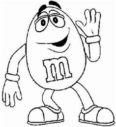 Free m&m clipart black and white.  best m images