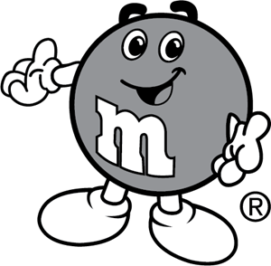 Free m&m clipart black and white. M s logo vectors