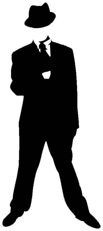 Free mafia clipart clip art black and white download Mobster clipart clipart images gallery for free download | MyReal ... clip art black and white download