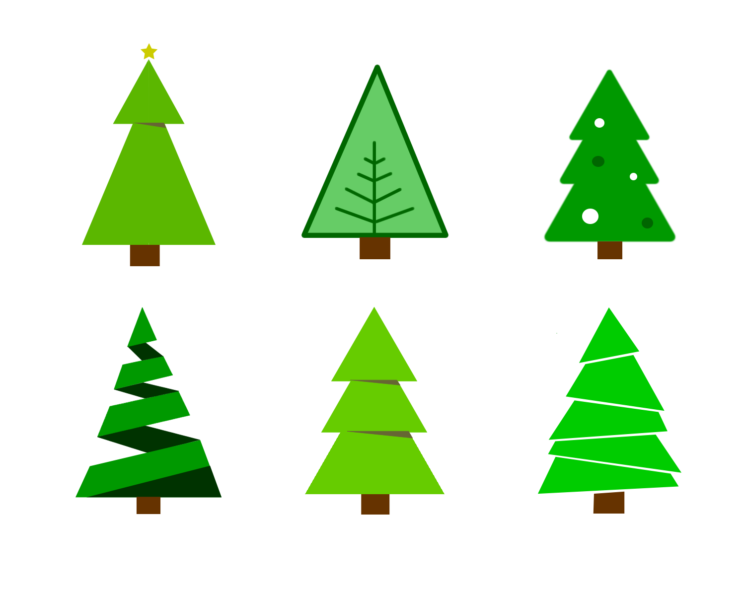 Funky christmas tree clipart clipart free Christmas Tree Graphic Collection (73+) clipart free