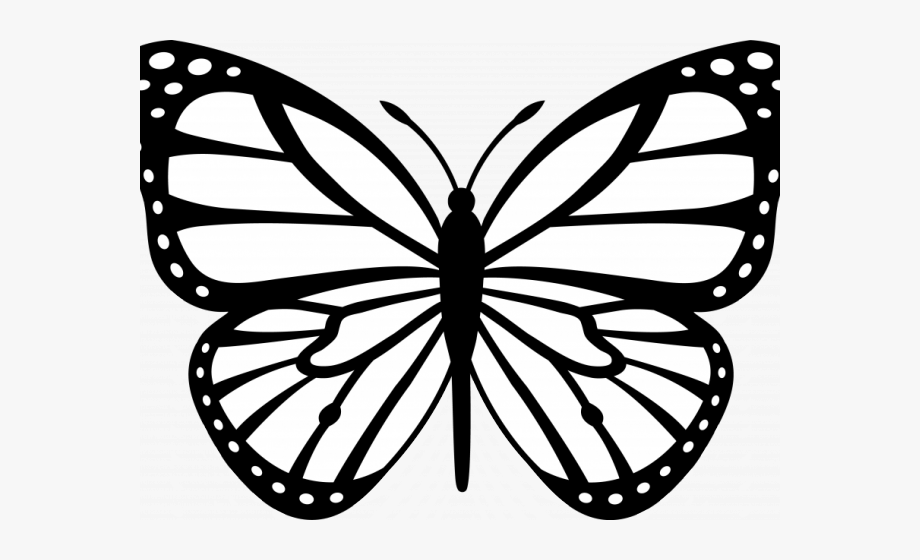 Line butterfly clipart image black and white download Monarch Butterfly Clipart Colorful Flying Butterfly - Monarch ... image black and white download