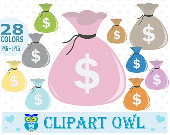 Free money clipart for commercial use vector freeuse stock Money clipart   Etsy vector freeuse stock