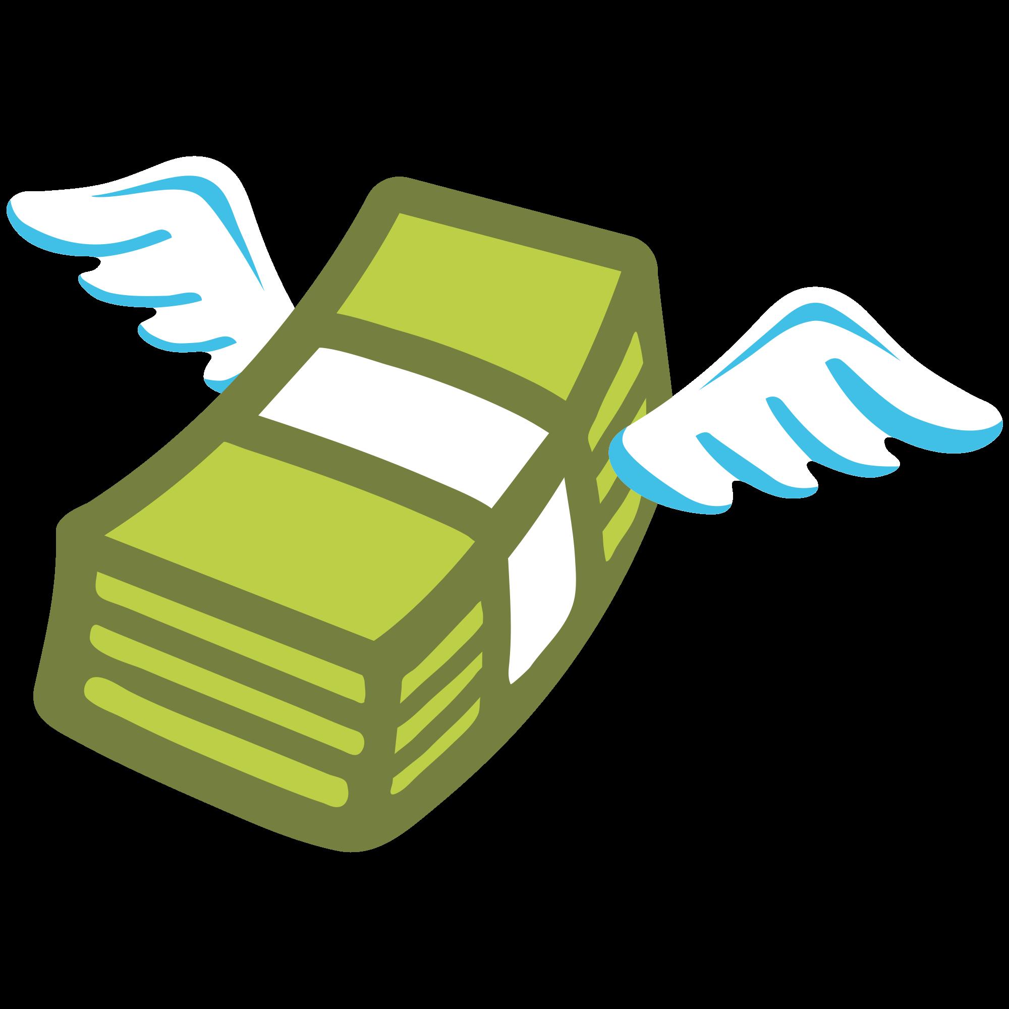 Free money emoji clipart vector royalty free library File:Emoji u1f4b8.svg - Wikimedia Commons vector royalty free library
