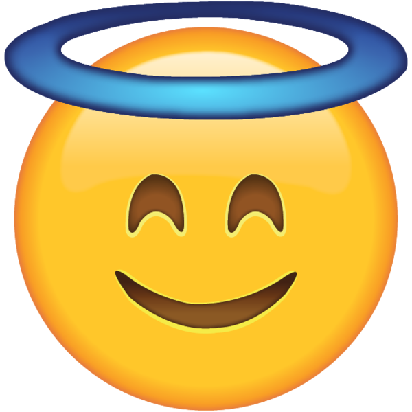 Free money emoji clipart banner transparent Smiling Face with Halo - Let everyone know you're being as angelic ... banner transparent