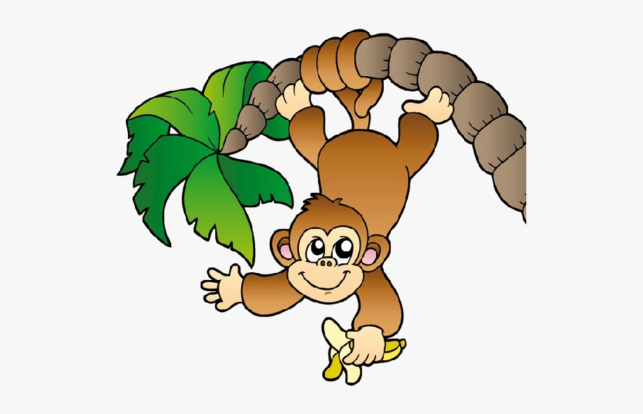 Free monkey clipart cartoon banner transparent library Zoo Monkey Clipart - Monkey Hanging From A Tree #7540 - Free ... banner transparent library
