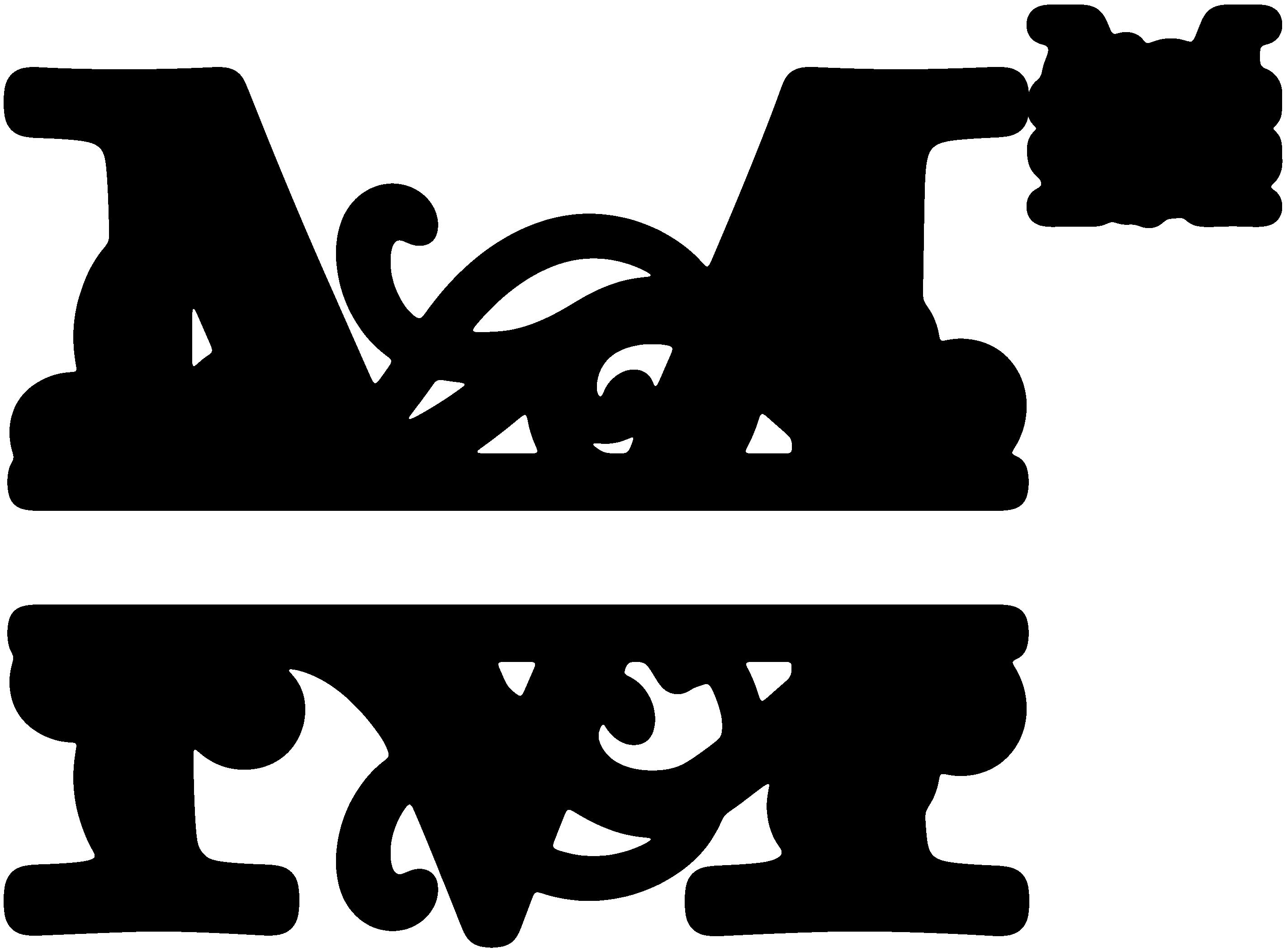 Free monogram clipart. Image result for split