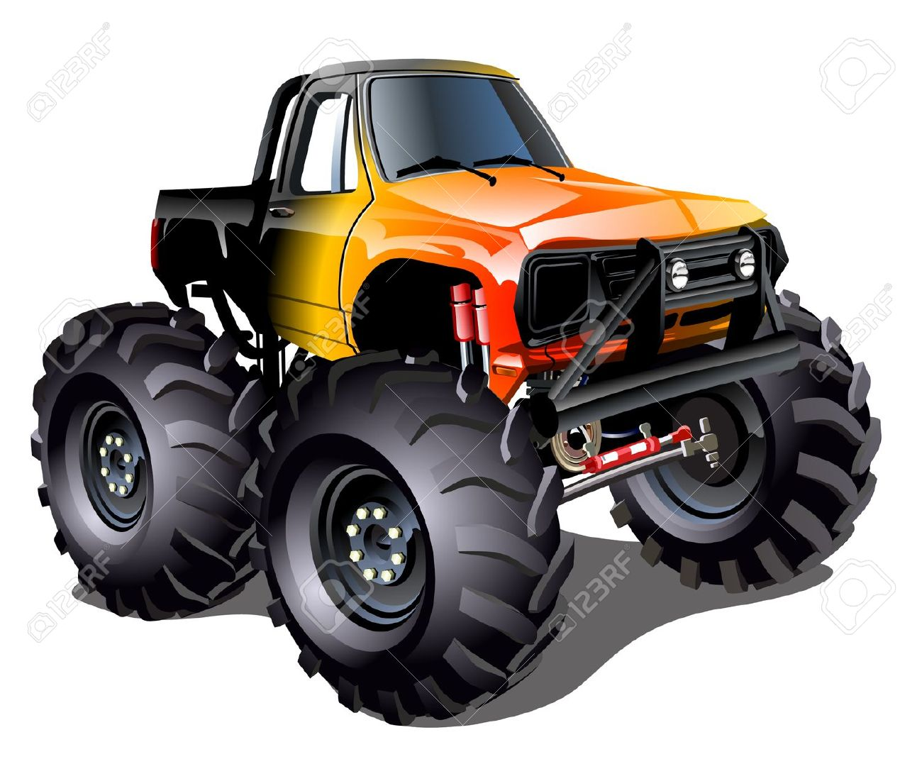 Free monster truck clipart images picture black and white library Free Monster Truck Clipart Black And White, Download Free Clip Art ... picture black and white library