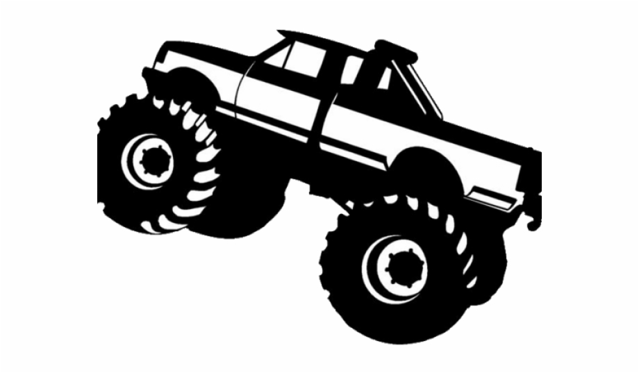 Free monster truck clipart images vector download Monster Truck Clipart Black And White Free PNG Images & Clipart ... vector download