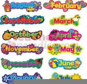 Free month clipart graphic Free Clipart For Teachers Months Of The Year | Free Images at Clker ... graphic