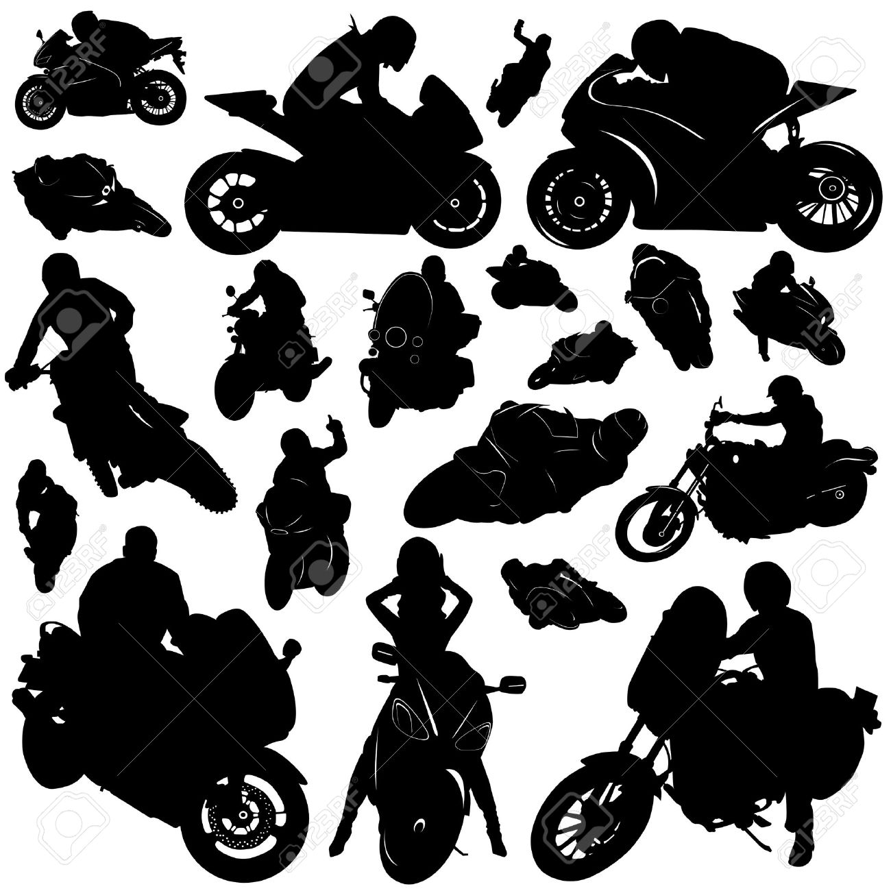 Free Motorcycle Silhouette Cliparts, Download Free Clip Art, Free ... picture transparent download