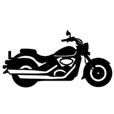 90+ Motorcycle Silhouette Clip Art | ClipartLook svg black and white stock