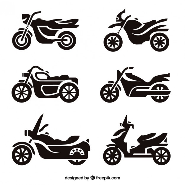 Motorcycle silhouettes Vector | Free Download vector library download