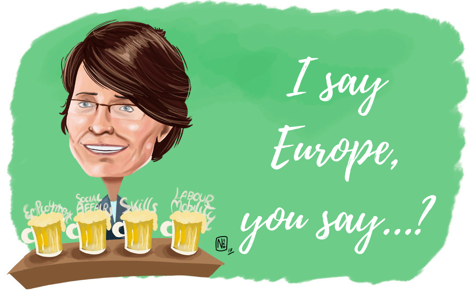 Free movement in the eu clipart vector freeuse stock I say Europe, you say…? Interview with Marianne Thyssen | Martens Centre vector freeuse stock