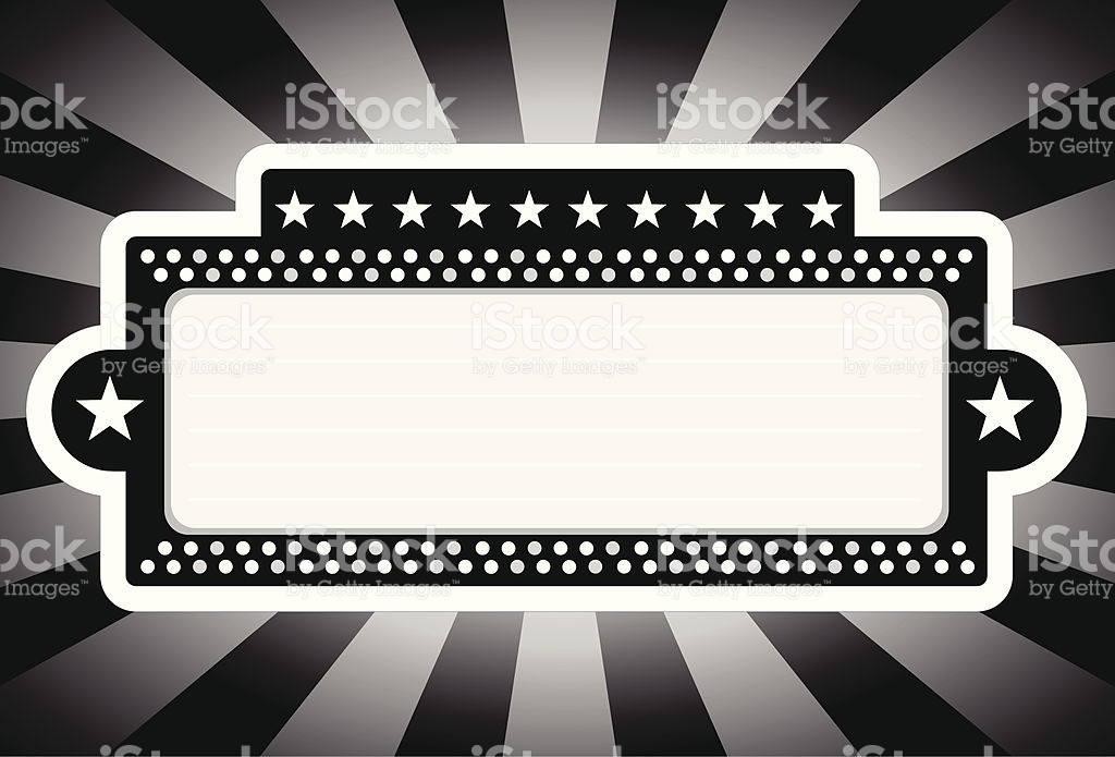 Broadway transparent clip arts. Free movie marquee clipart black and white