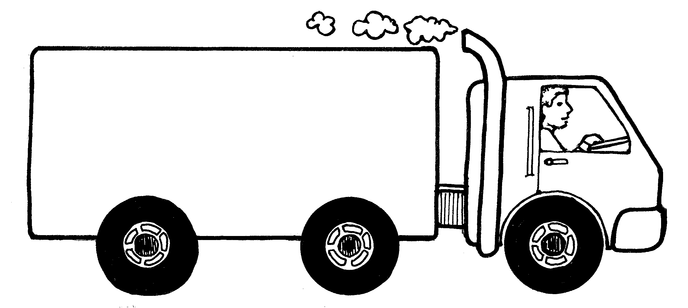 Free moving van clipart black and white image transparent stock Free Picture Of A Moving Truck, Download Free Clip Art, Free Clip ... image transparent stock