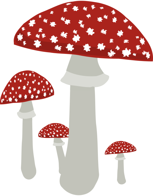 Free mushroom clipart black and white download Free Clipart: Mushrooms 4 | opk black and white download