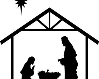 Nativity scene clipart black white picture freeuse stock Free Nativity Black Cliparts, Download Free Clip Art, Free Clip Art ... picture freeuse stock
