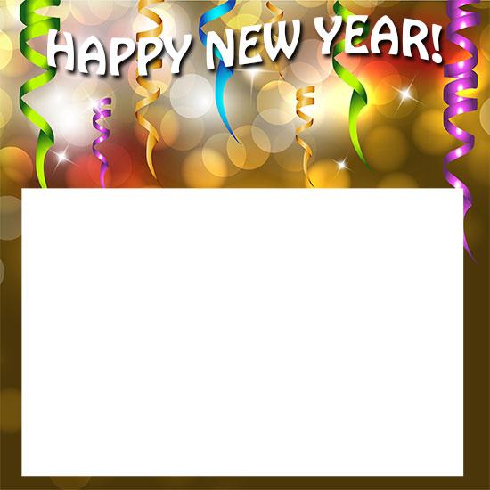 Happy new year borders clipart